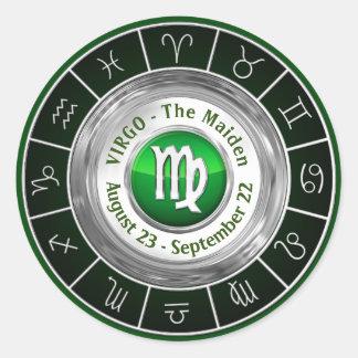 Virgo - The Maiden Zodiac Sign Classic Round Sticker