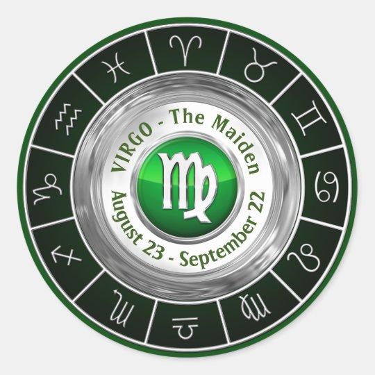 Virgo - The Maiden Zodiac Sign Classic Round
