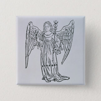 Virgo (the Virgin) an illustration from the 'Poeti 15 Cm Square Badge