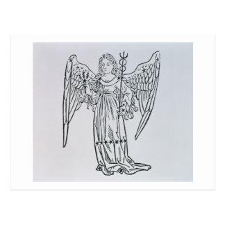 Virgo (the Virgin) an illustration from the 'Poeti Postcard