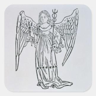 Virgo (the Virgin) an illustration from the 'Poeti Square Sticker