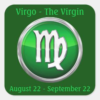Virgo - The Virgin Horoscope Sign Square Sticker