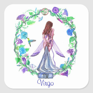 Virgo ~ The Virgin Square Sticker