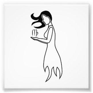 virgo woman greek astrology horoscope zodiac art photo