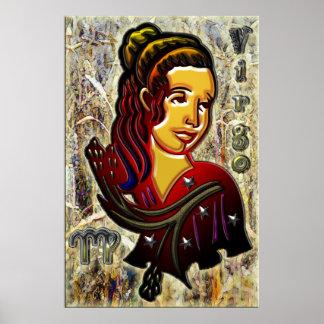 Virgo Zodiac Art Poster