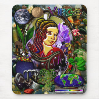 Virgo Zodiac Art With Elements Mouse Pad