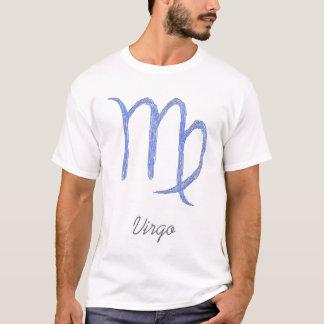 Virgo. Zodiac Astrological Sign. Blue. T-Shirt