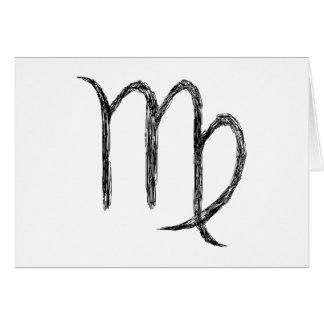 Virgo. Zodiac Astrological Sign. Card