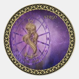 virgo Zodiac Astrology design Horoscope Classic Round Sticker