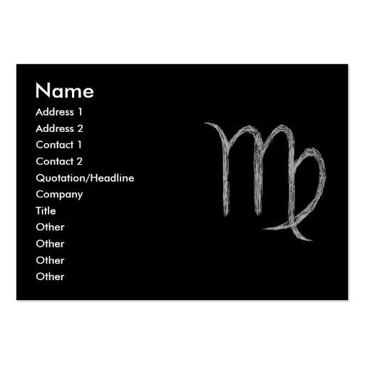 Virgo. Zodiac Astrology Sign. Black. Business Card Templates