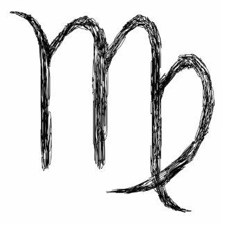 Virgo. Zodiac Astrology Sign. Black. Photo Sculpture Decoration