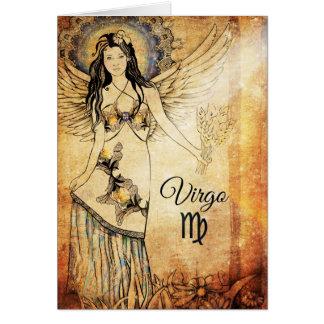 Virgo Zodiac Card
