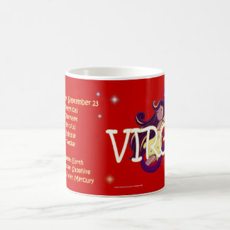 Virgo zodiac character coffee mug