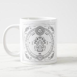 Virgo Zodiac Custom Birthday Mug