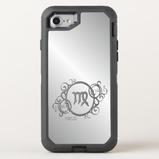 Virgo Zodiac Design Silver OtterBox Defender iPhone 7 Case