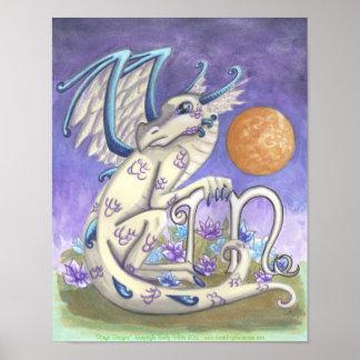 Virgo zodiac Dragon astrology sign fantasy art Poster