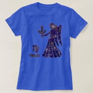 Virgo Zodiac Sapphire Stars Modern T-Shirt