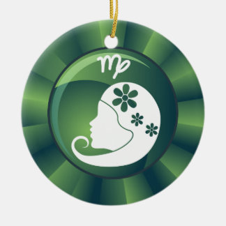 Virgo Zodiac Sign Christmas Ornament