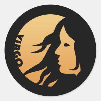 Virgo Zodiac Sign Classic Round Sticker