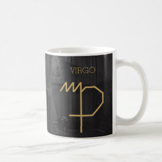 Virgo Zodiac Sign | Custom Background + Text Coffee Mug