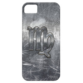 Virgo Zodiac Sign in Grunge Distressed Style iPhone 5 Covers