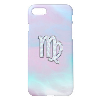 Virgo Zodiac Sign on Pastels Mother of Pearl iPhone 7 Case