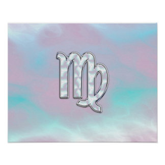 Virgo Zodiac Sign on Pastels Mother of Pearl Poster