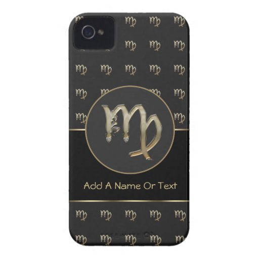 Virgo Zodiac Sign Personalized iPhone 4 Cover