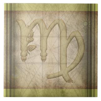 Virgo Zodiac Sign Tile