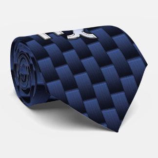 Virgo Zodiac Silver Sign Blue Carbon Fiber Print Tie