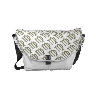 Virgo Zodiac Symbol Element Messenger Bag