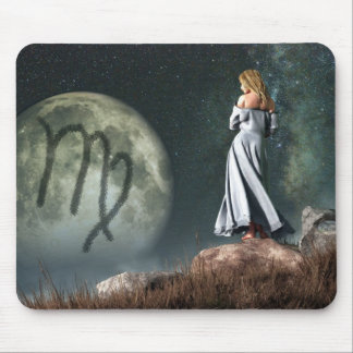 Virgo Zodiac Symbol Mousepads