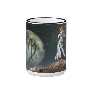 Virgo Zodiac Symbol Ringer Mug