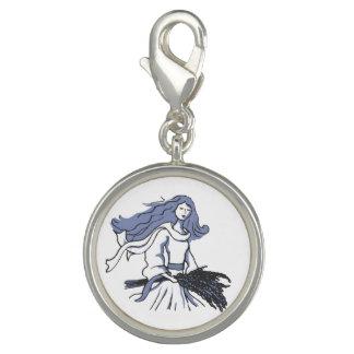 Virgo zodiac the maiden blue grey charm