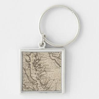 Virigina and Maryland Key Ring