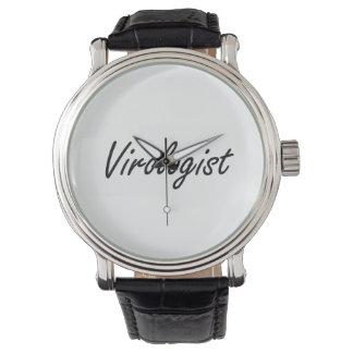 Virologist Artistic Job Design Watch