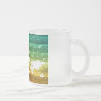 Virtual Business Platform Frosted Glass Mug