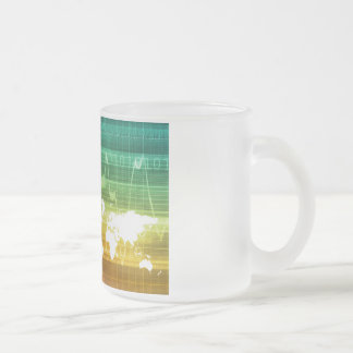 Virtual Business Platform 10 Oz Frosted Glass Coffee Mug