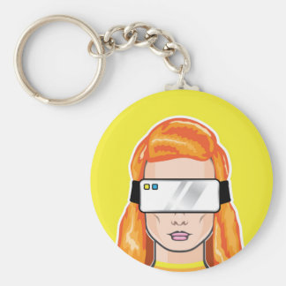 Virtual Device Vector Basic Round Button Key Ring