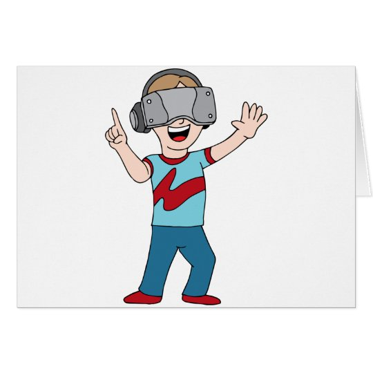 Virtual Reality Video Gamer Card