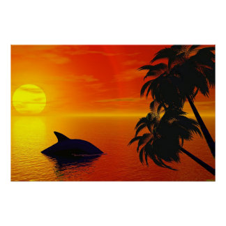 Virtual Sunset Poster
