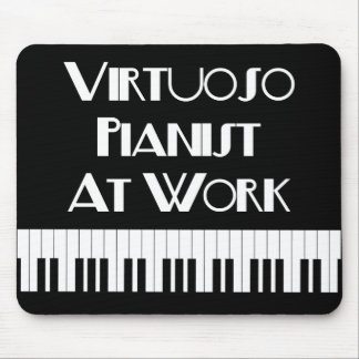 Virtuoso Pianist and Piano Keys Mousepad