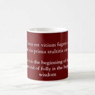 Virtus est vitium fugere coffee mug