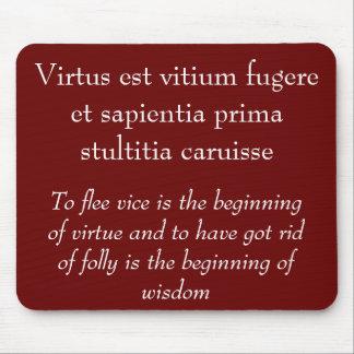 Virtus est vitium fugere mouse mat