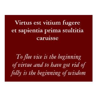 Virtus est vitium fugere postcard