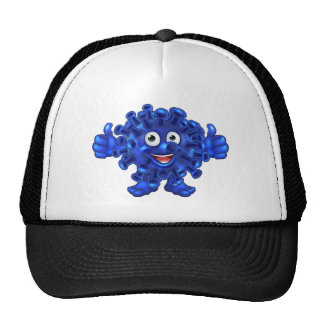 Virus Bacteria Alien or Monster Cartoon Character Cap