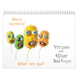 Viruses and Other Bad Guys Calendars