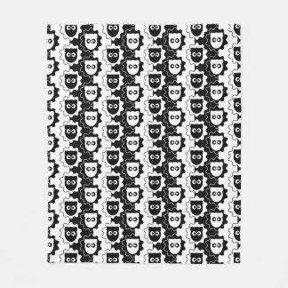 Visa Versa Sheep Pattern Fleece Blanket