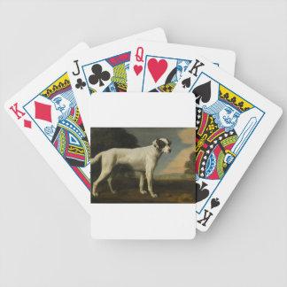Viscount Gormanston's White Dog by George Stubbs Poker Deck