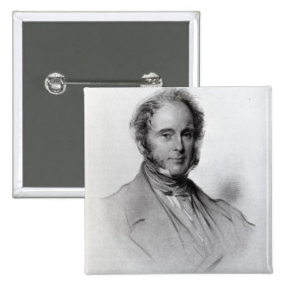 Viscount Palmerston, engraved by Emery Walker 15 Cm Square Badge
